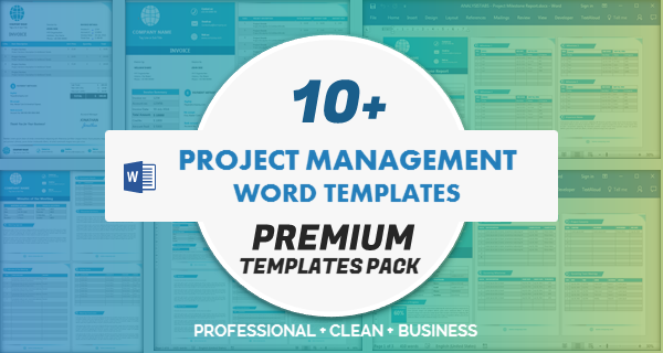 Project Management Word Templates Pack