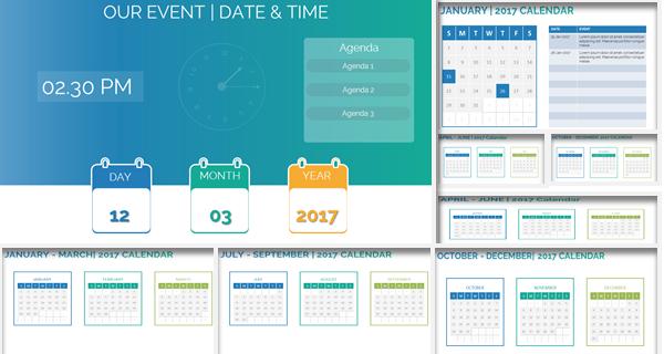 PowerPoint Date Time & Calendar Template
